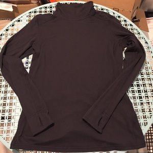 Lululemon Black Rulu Mock-Neck Pullover